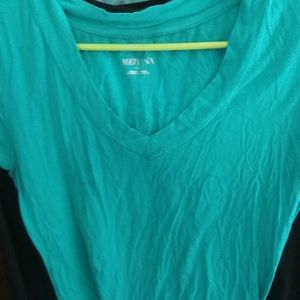 4 FOR $10 WOMENS MERONA TEAL SHIRT LARGE